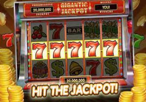 Slotsspel med jackpottvinst med fem 7:or i rad och mynt runtomkring